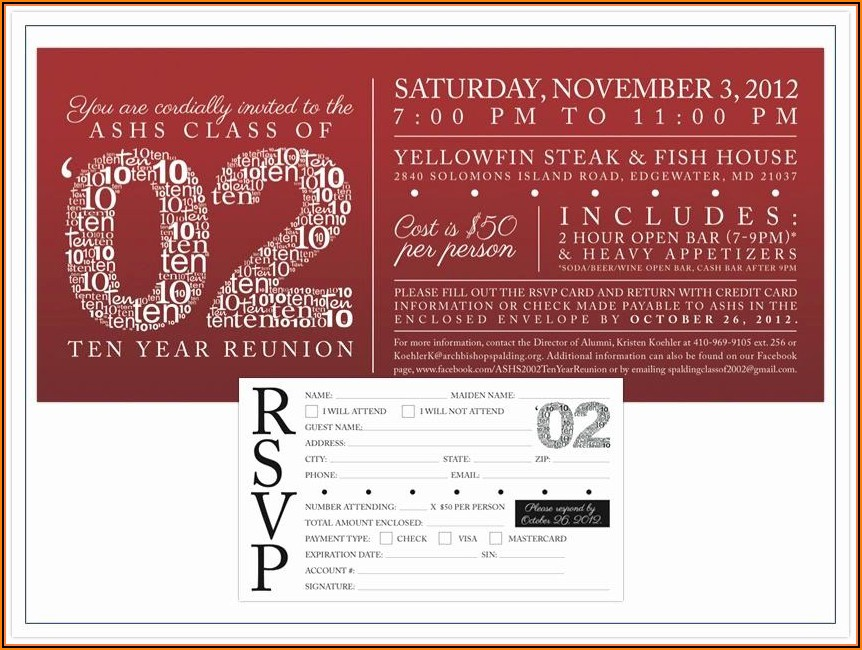 High School Class Reunion Invitation Template
