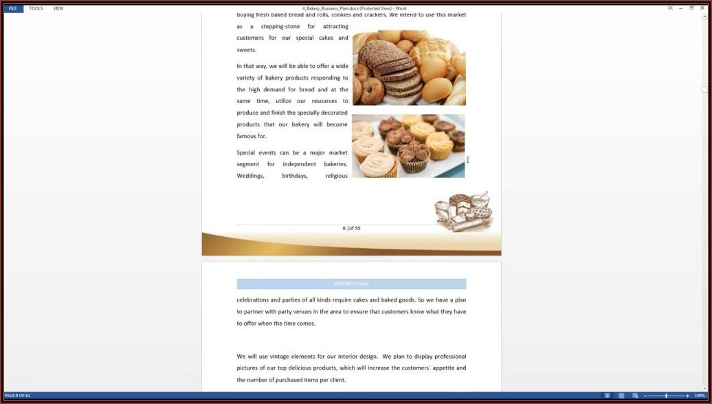 Home Bakery Business Plan Template