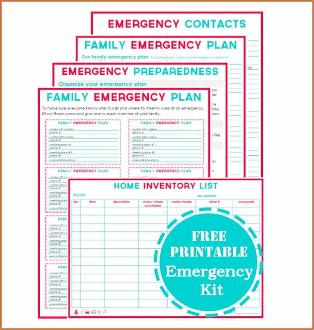 Home Health Emergency Preparedness Template