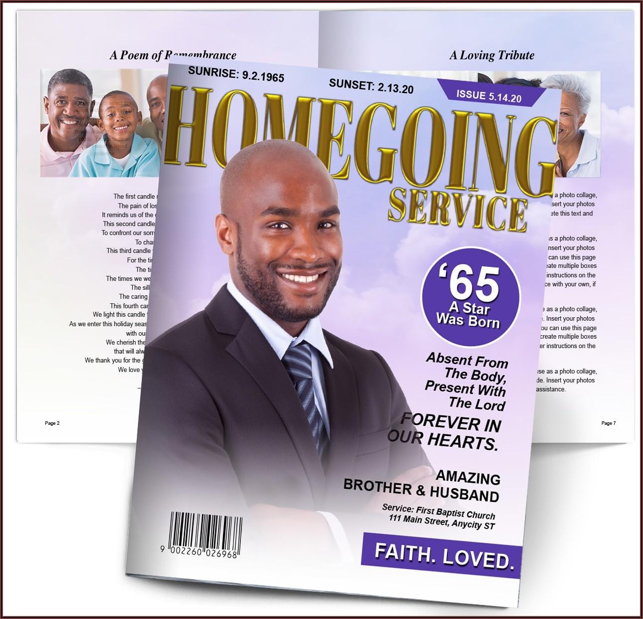 Homegoing Funeral Program Template