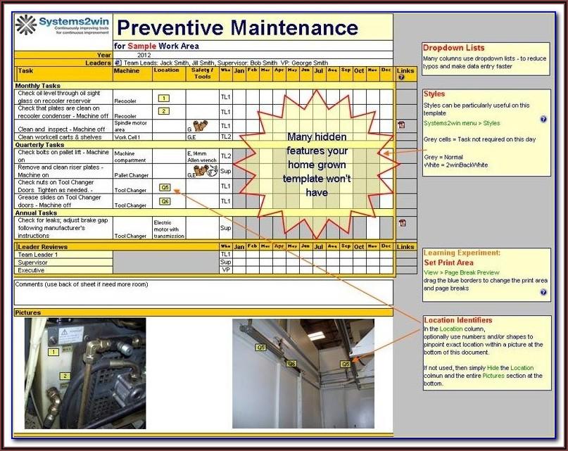 Hotel Preventive Maintenance Checklist Template