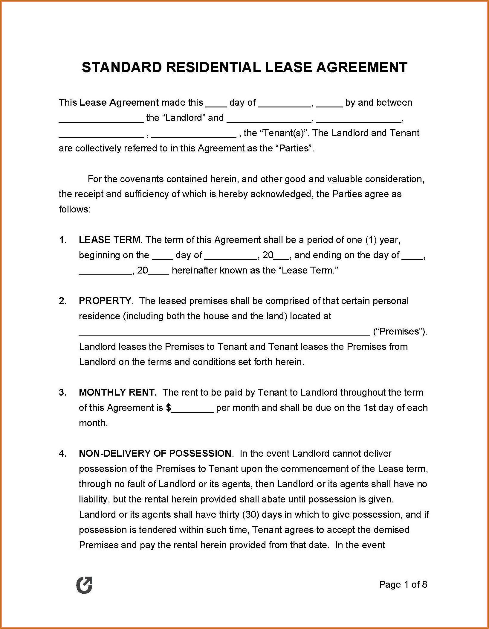 House Rental Agreement Template South Africa