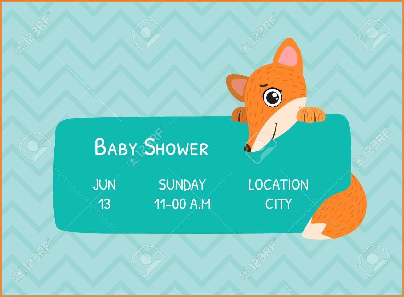 Invitation Card Template For Baby Shower