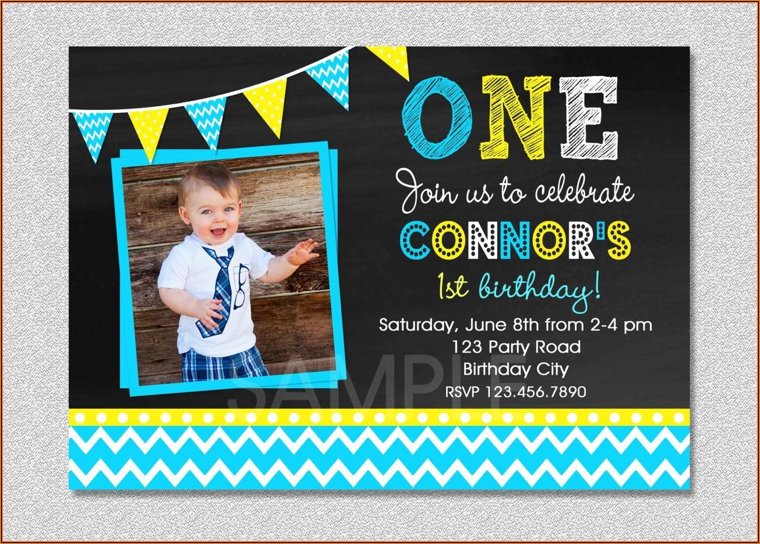 Invitation Template For Birthday Boy