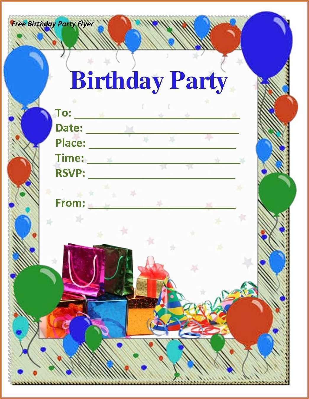 Invitation Templates For Birthday