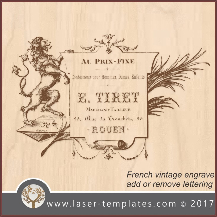 Laser Engraving Templates For Sale