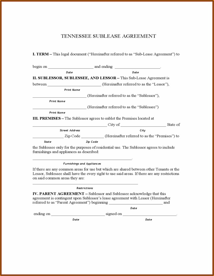 Lease Template Nyc