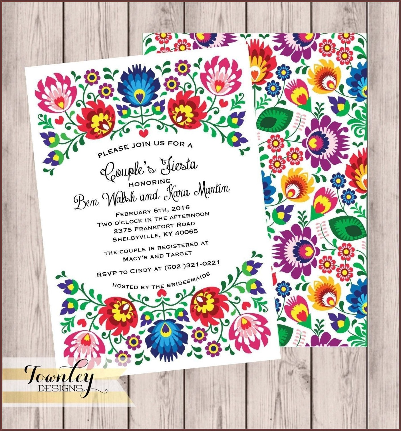 Mexican Wedding Invitations Templates