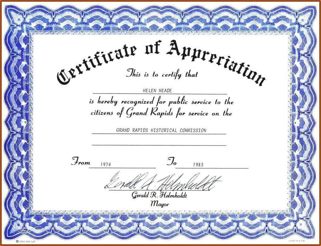 Microsoft Word Template Stock Certificate