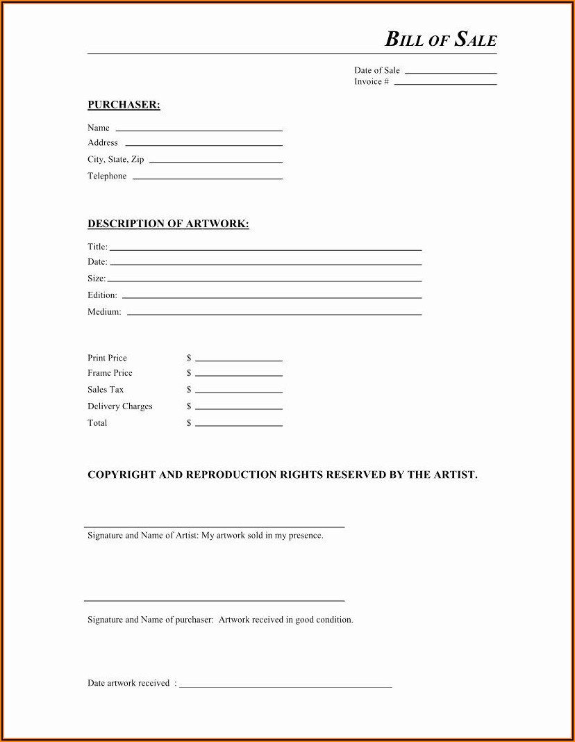 Motorcycle Sale Contract Template