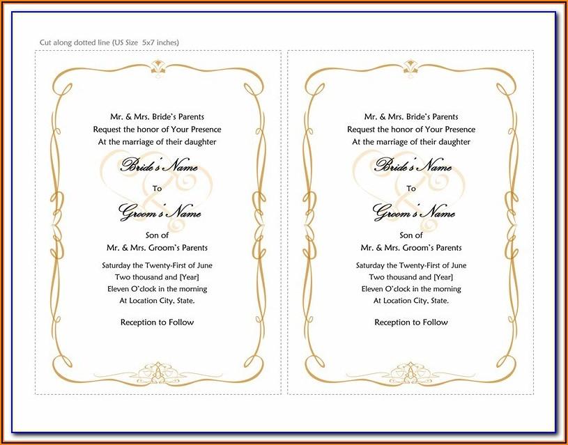 Muslim Wedding Invitation Templates Free Download