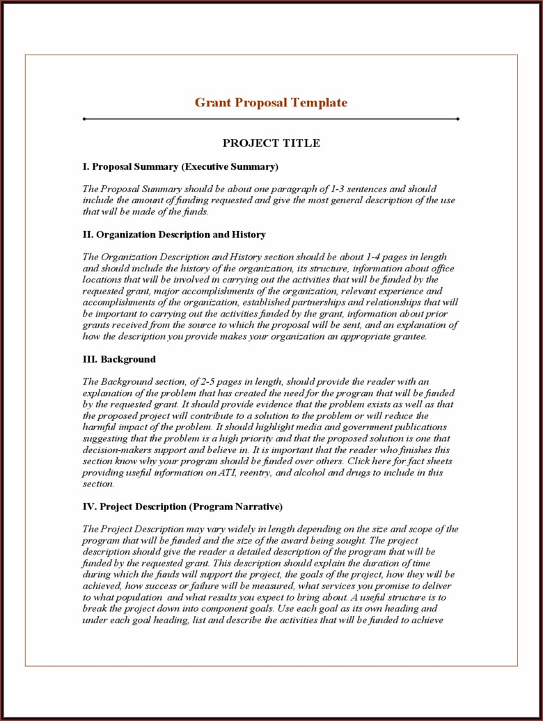 Ngo Project Proposal Template Pdf