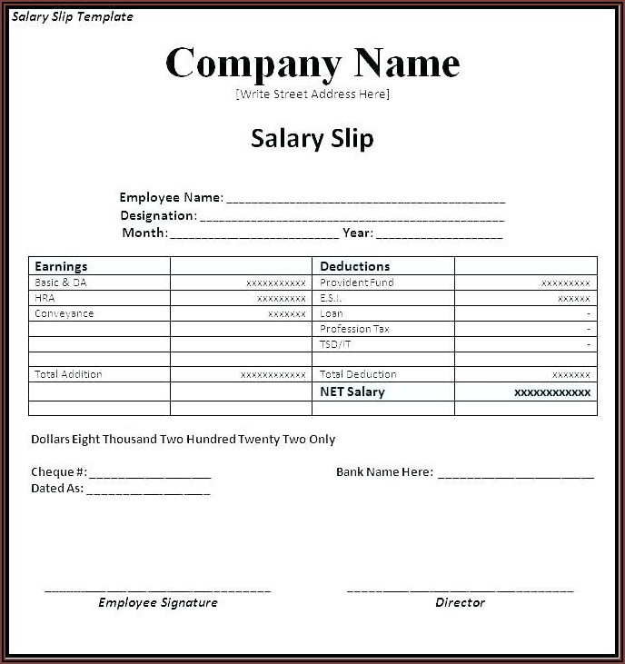 Payroll Invoice Template Excel