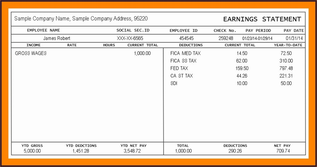 Payroll Invoice Template Free