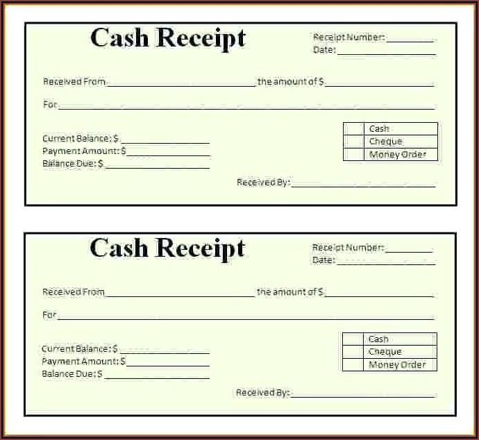 Payroll Receipt Template Word