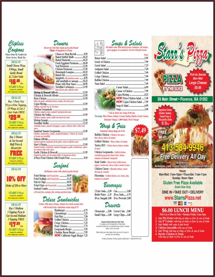 Pizza Menu Template Free Download