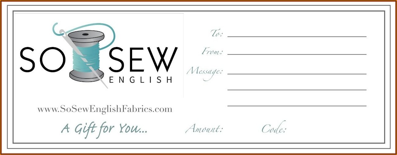Printable Downloadable Gift Certificate Template Free