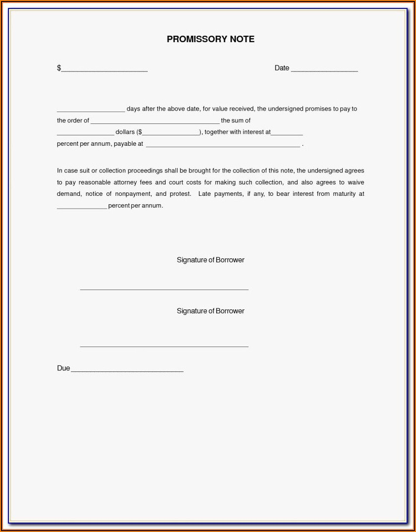 Promissory Note Word Template