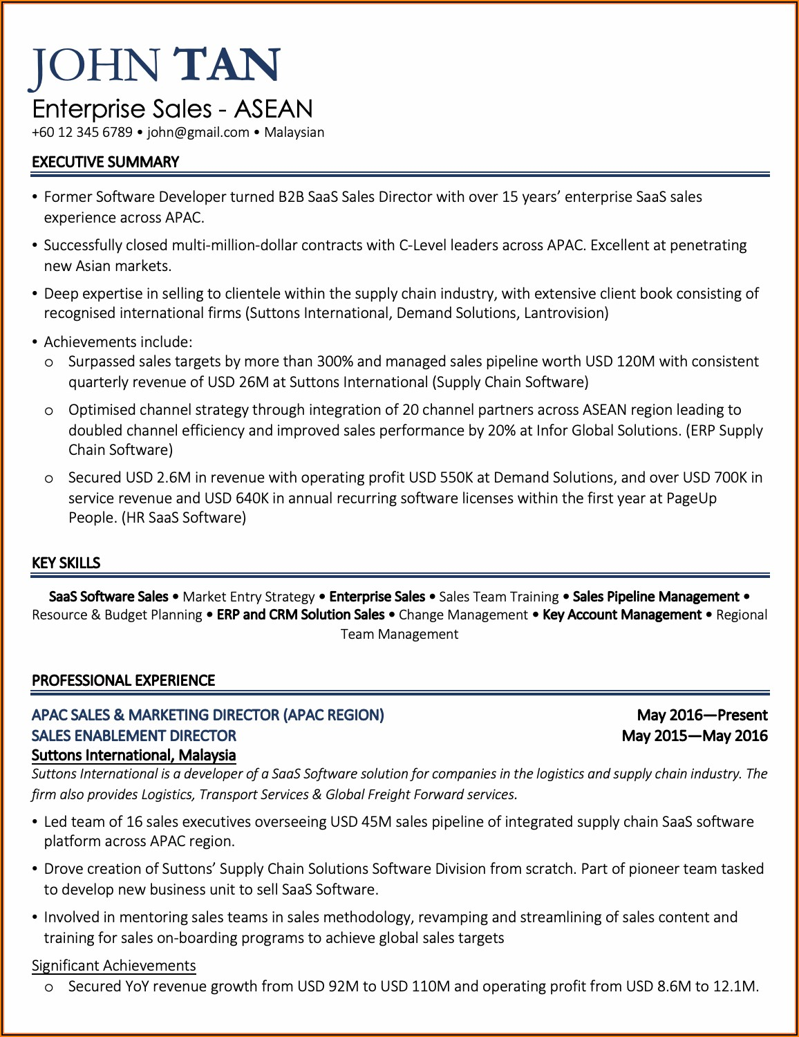 Resume Template Free Download Word Malaysia