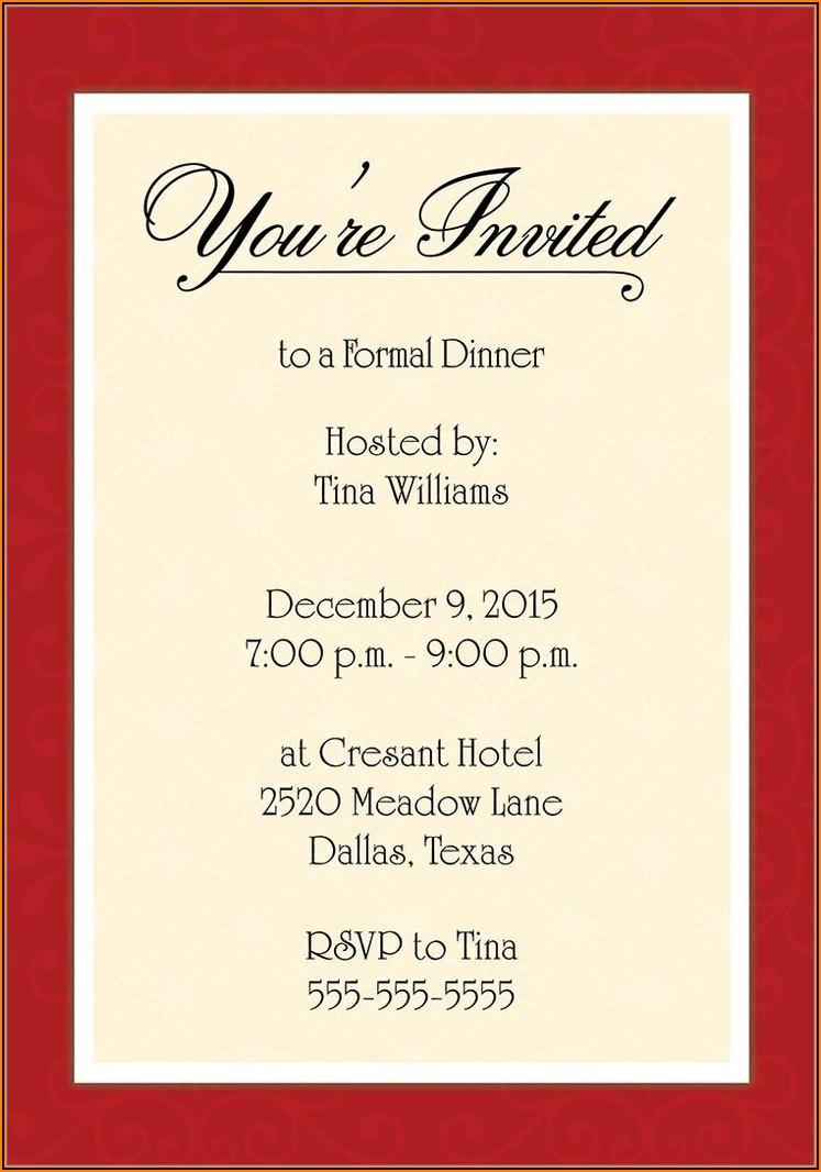 Romantic Dinner Invitation Template