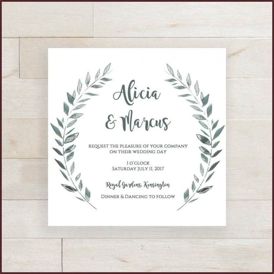 Rustic Wedding Invitation Template Download