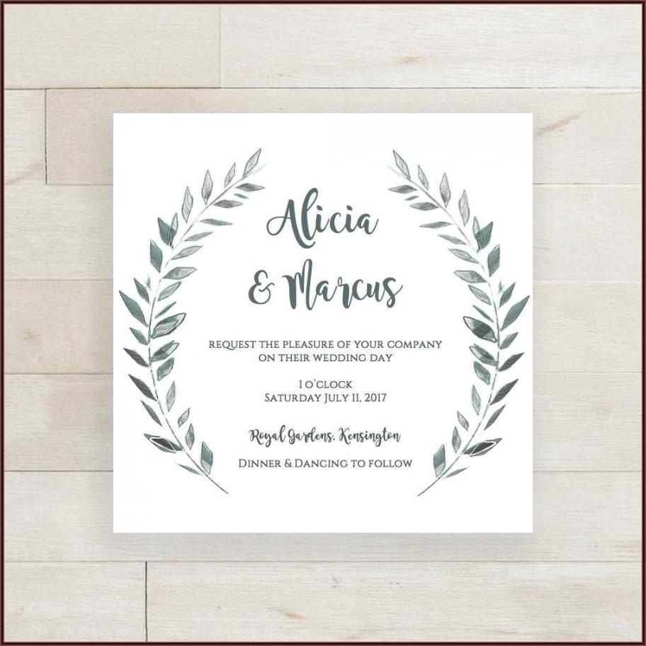 Rustic Wedding Invitation Template Download