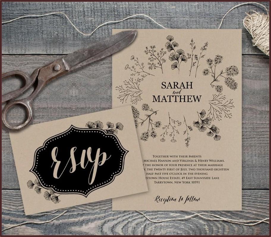 Rustic Wedding Invite Template