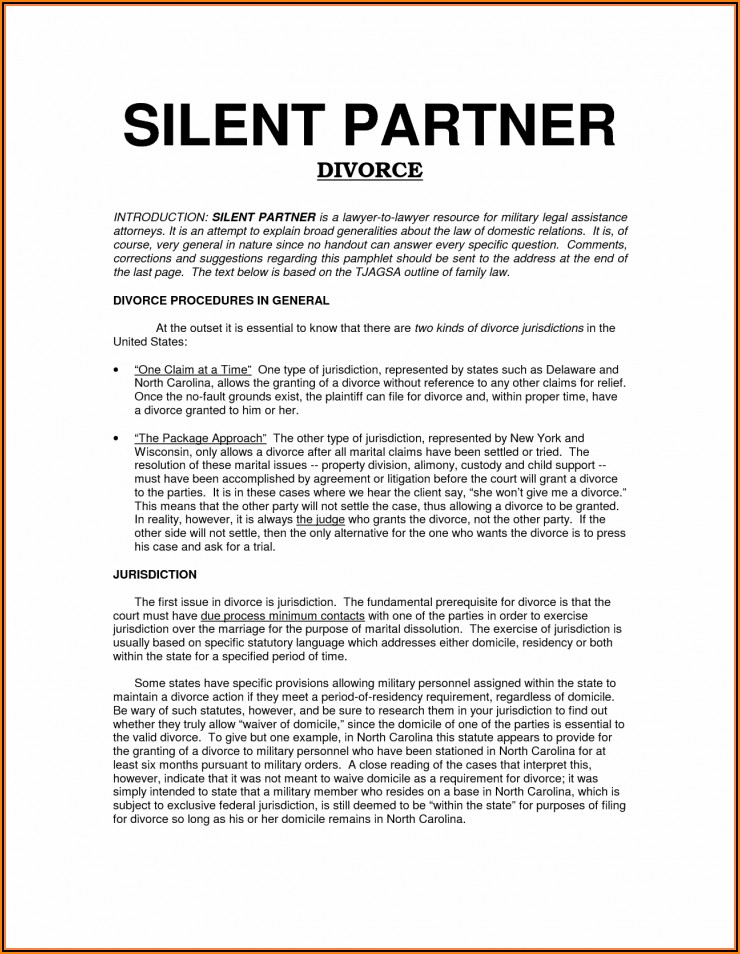 Silent Partner Agreement Template