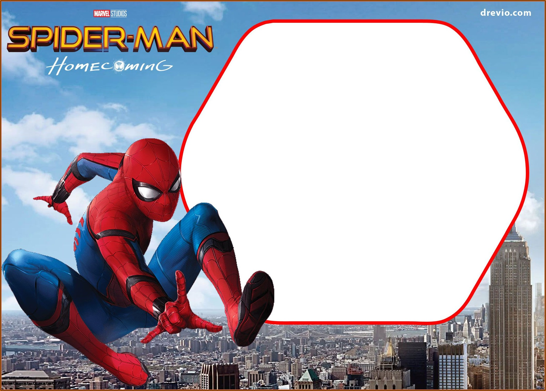 Spiderman Birthday Invitation Layout