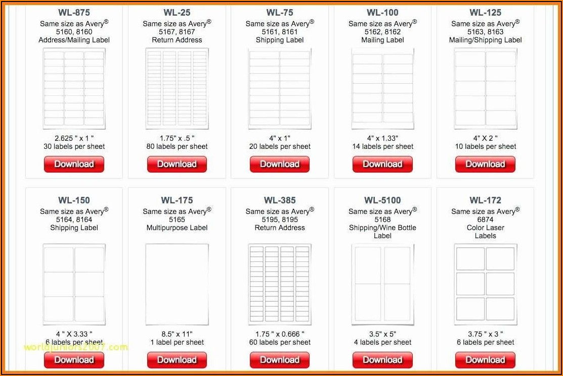 Staples Mailing Labels Template 5163