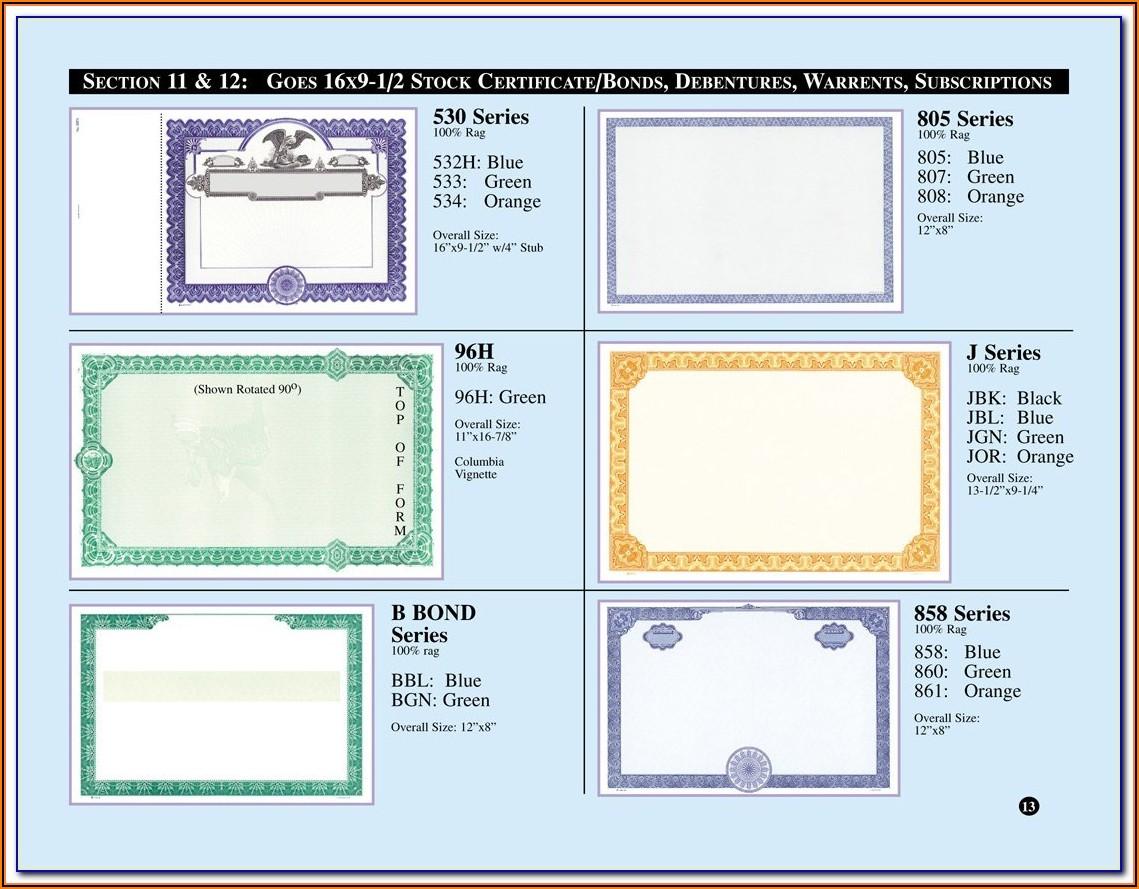 Stock Certificate Template Google Docs