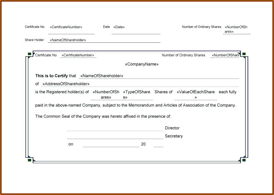Stock Certificate Template Microsoft Publisher