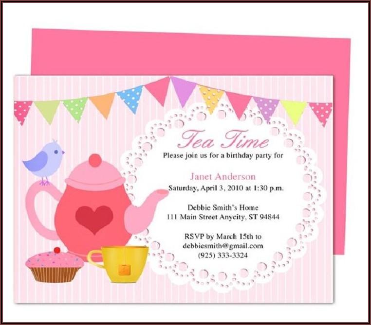 Tea Party Invitations Template