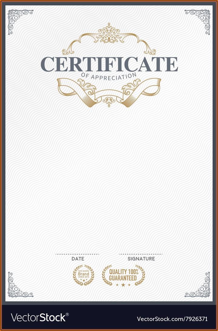 Template Stock Certificate