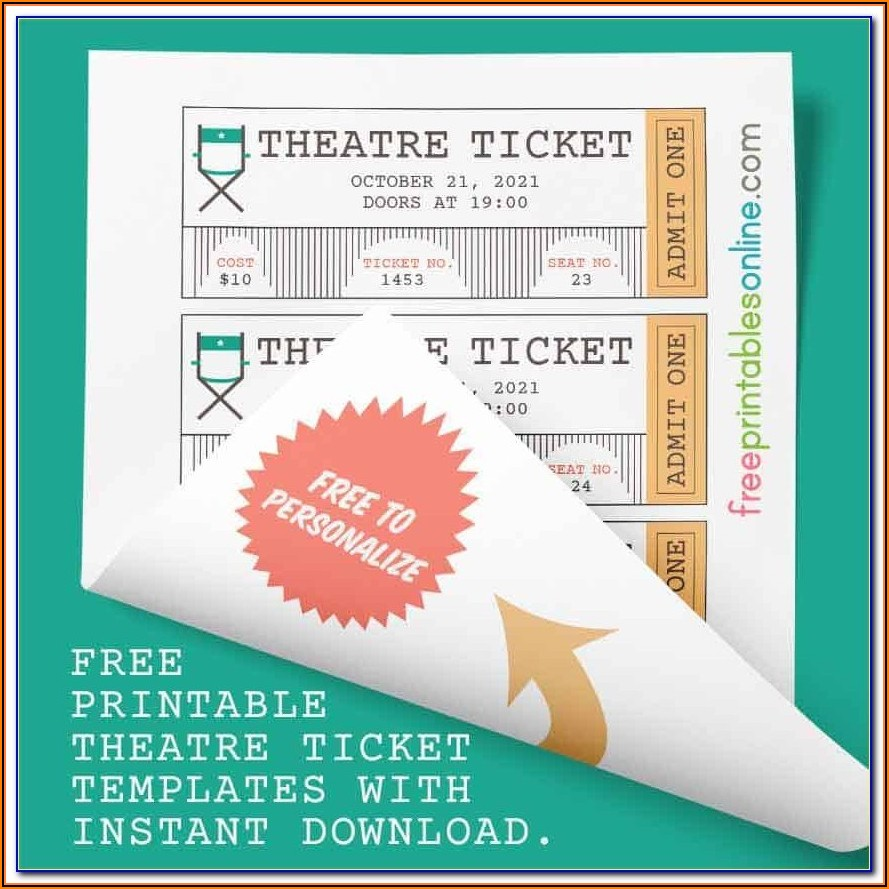 Theatre Ticket Template Word
