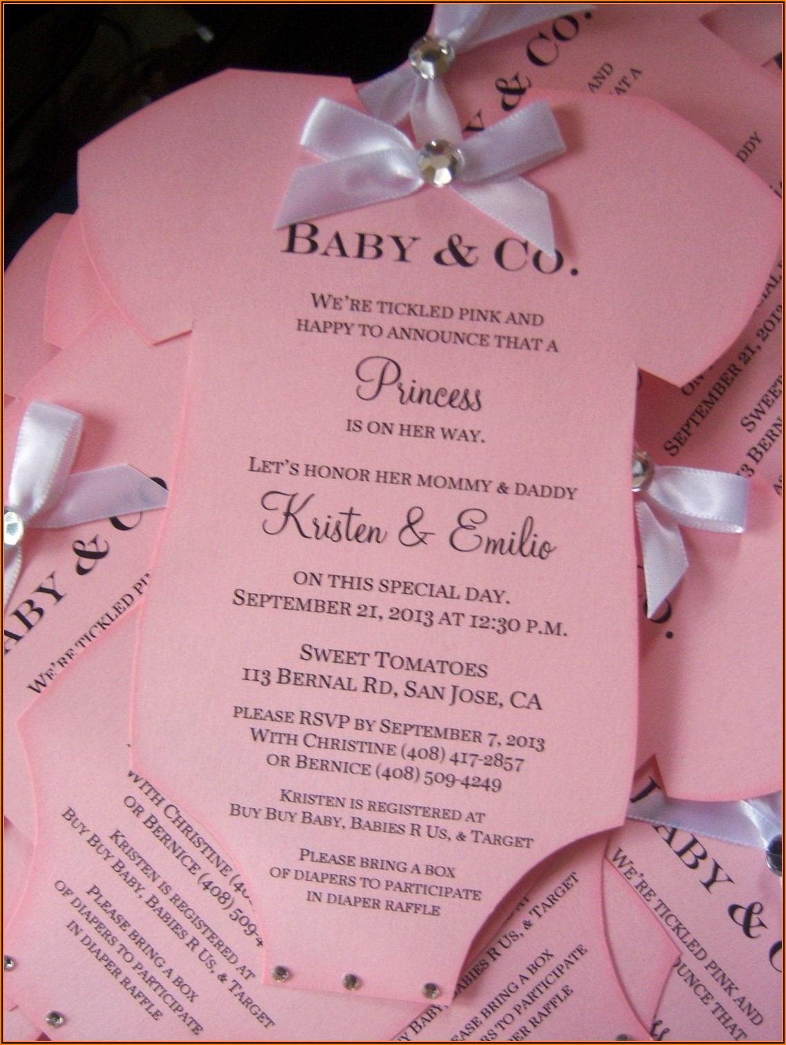 Tiffany And Co Baby Shower Invitation Template