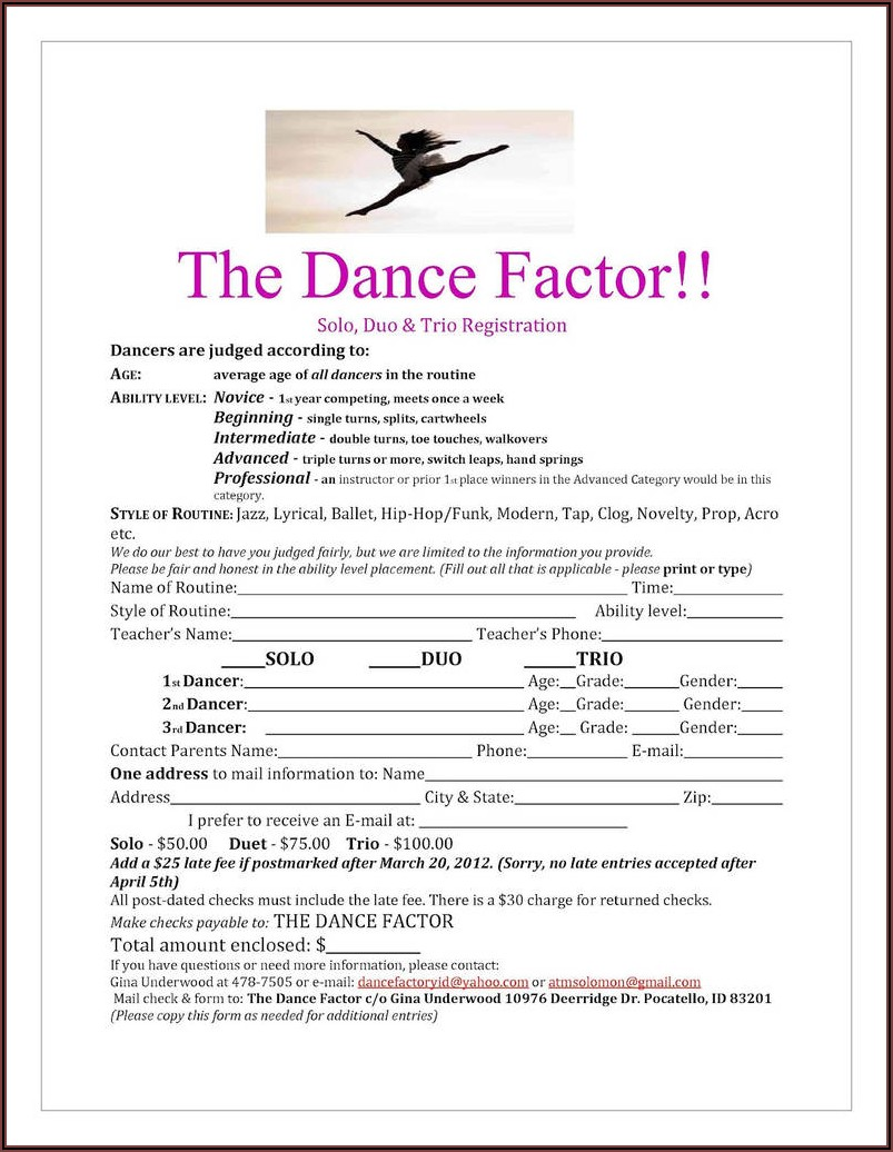 Tutoring Registration Form Template