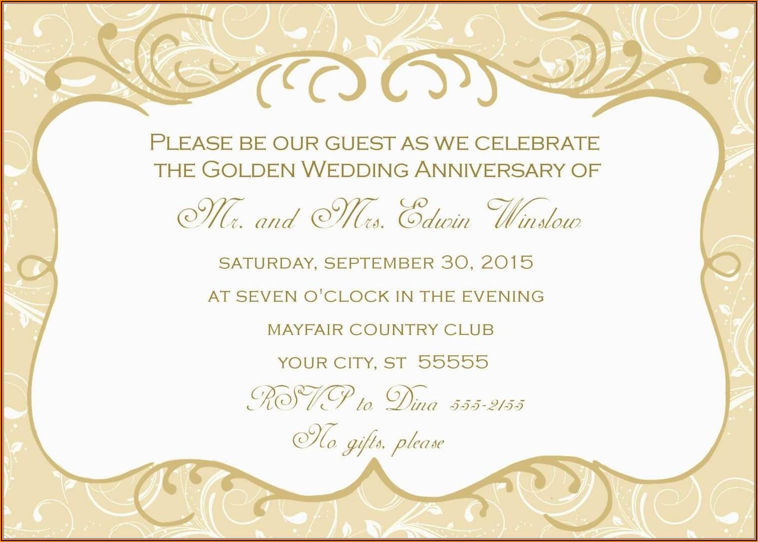 Wedding Anniversary Certificate Template