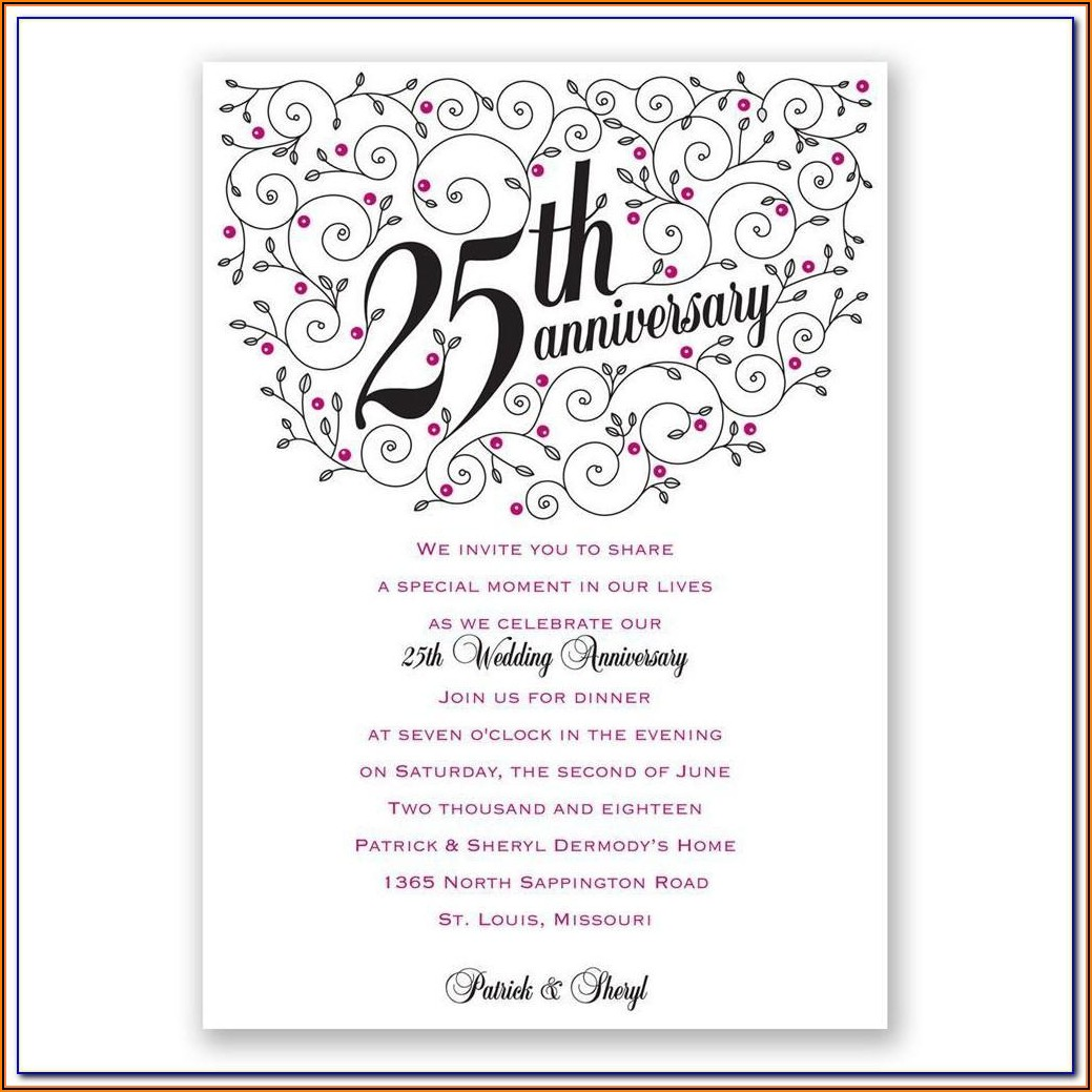 Wedding Anniversary Gift Certificate Template