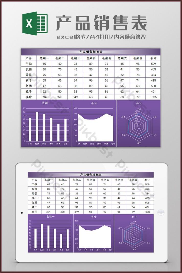 Weekly Sales Report Template Excel Free