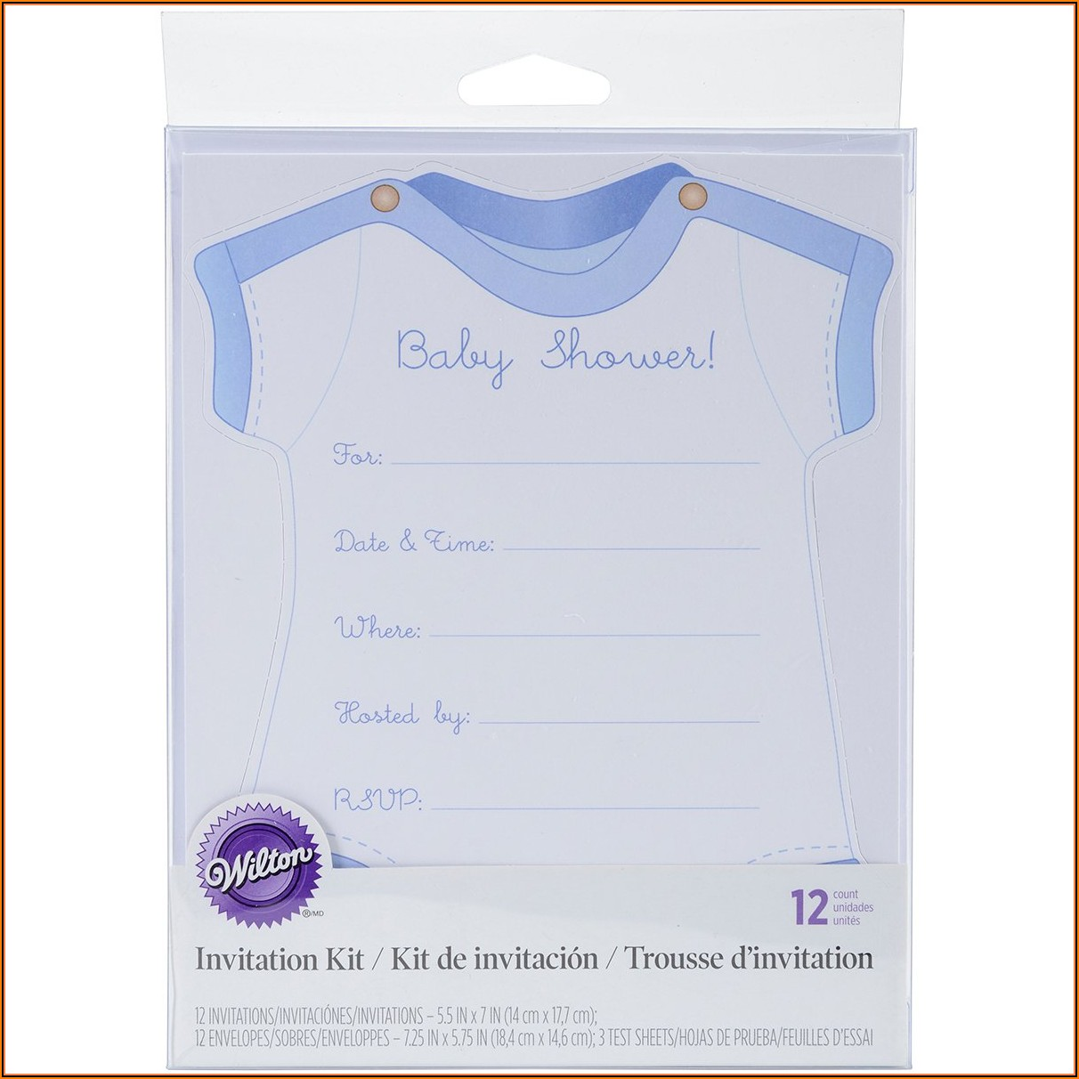 Wilton Baby Girl Onesie Invitation Template