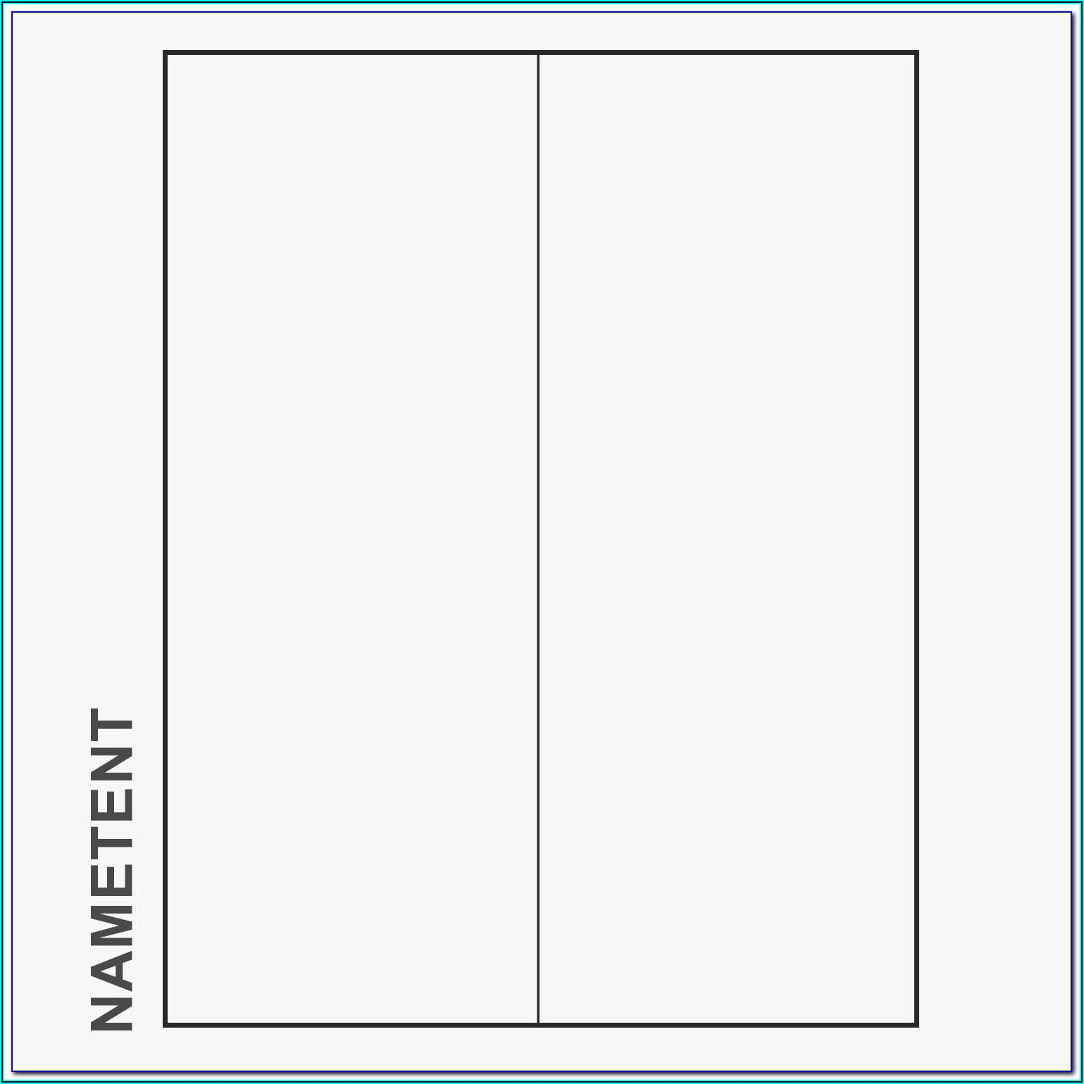 Avery Tent Cards Template 5305