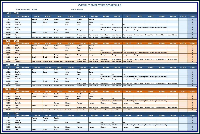 Blank Staff Schedule Template