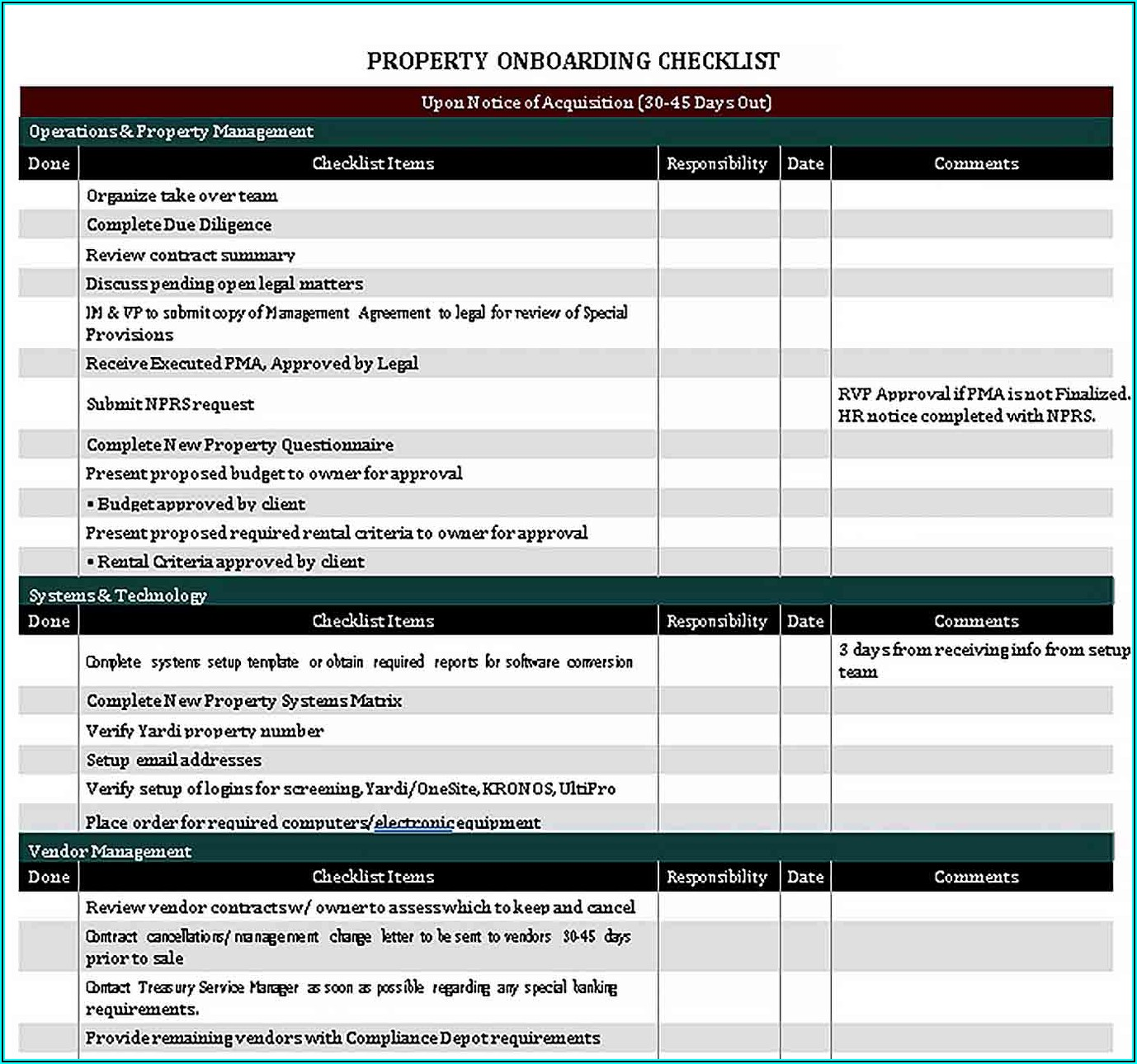 Client Onboarding Checklist Template Excel