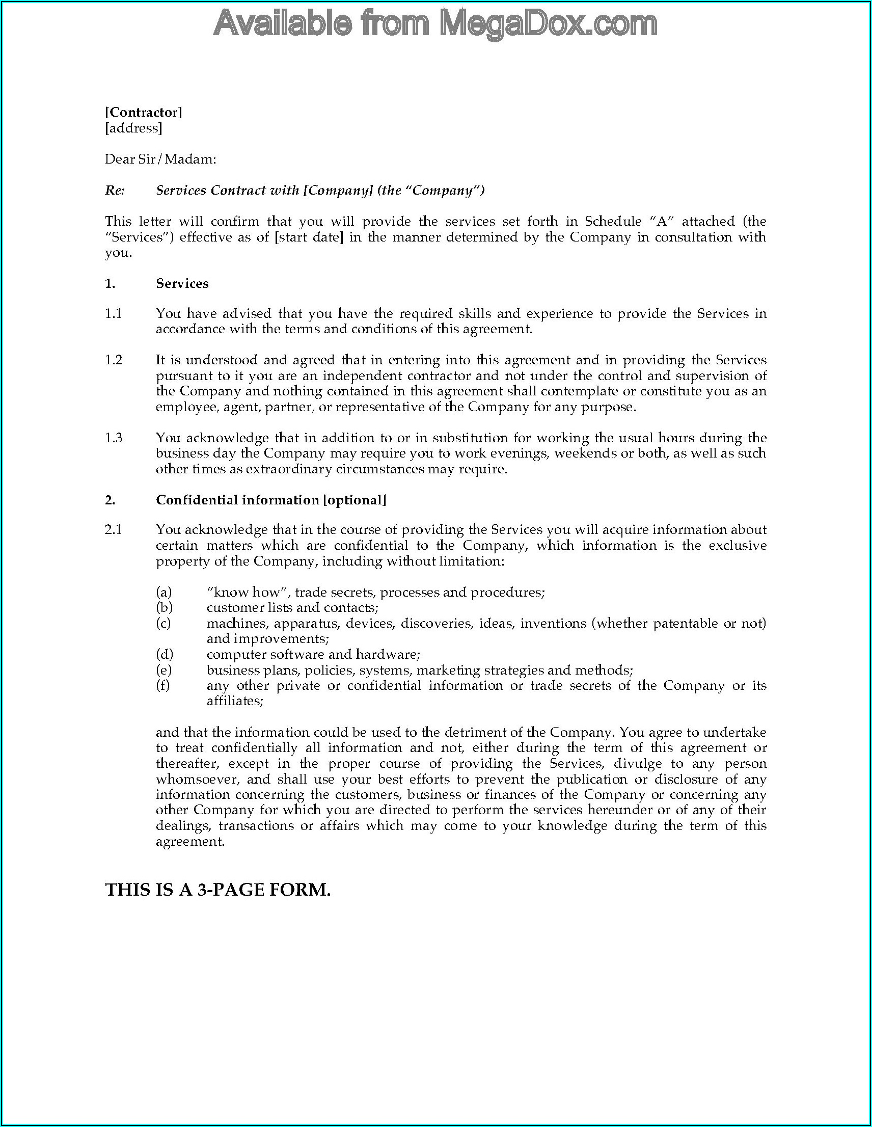 Common Law Separation Agreement Template Canada