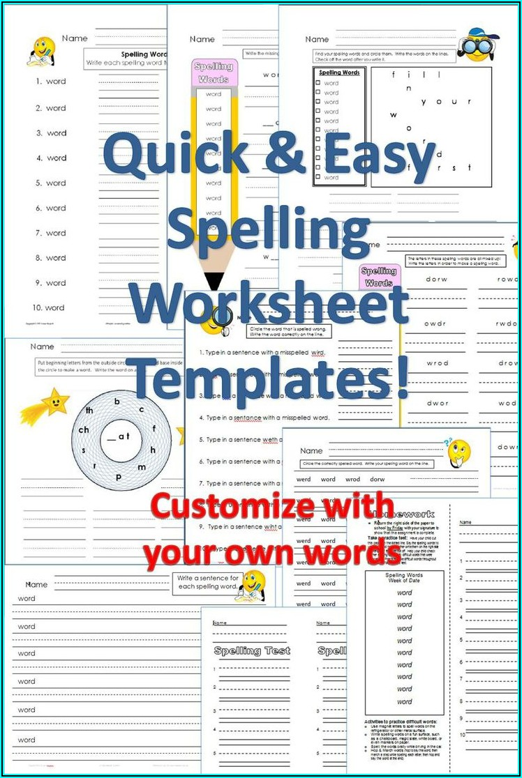 Create Your Own Worksheet Template Free