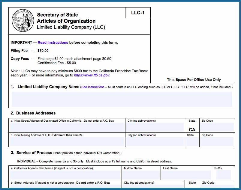 Dba Application Form California