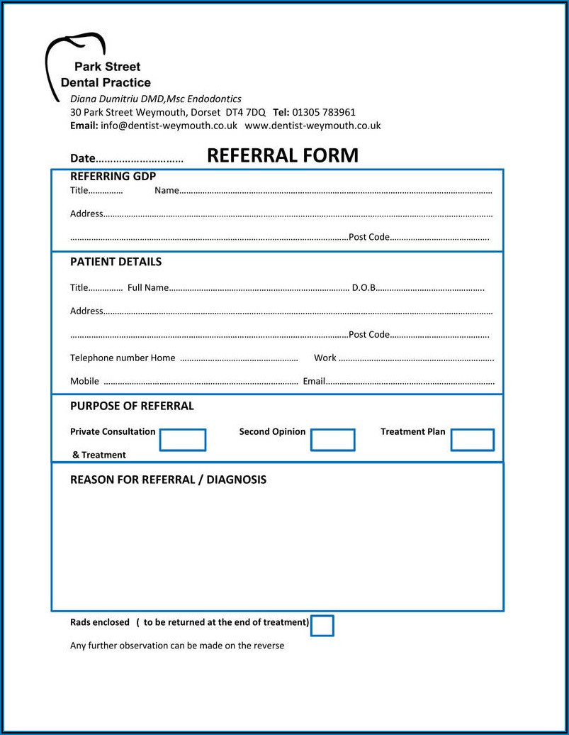 Denture Consent Form Uk