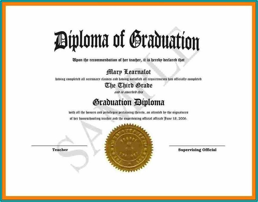 Diploma Certificate Template Doc