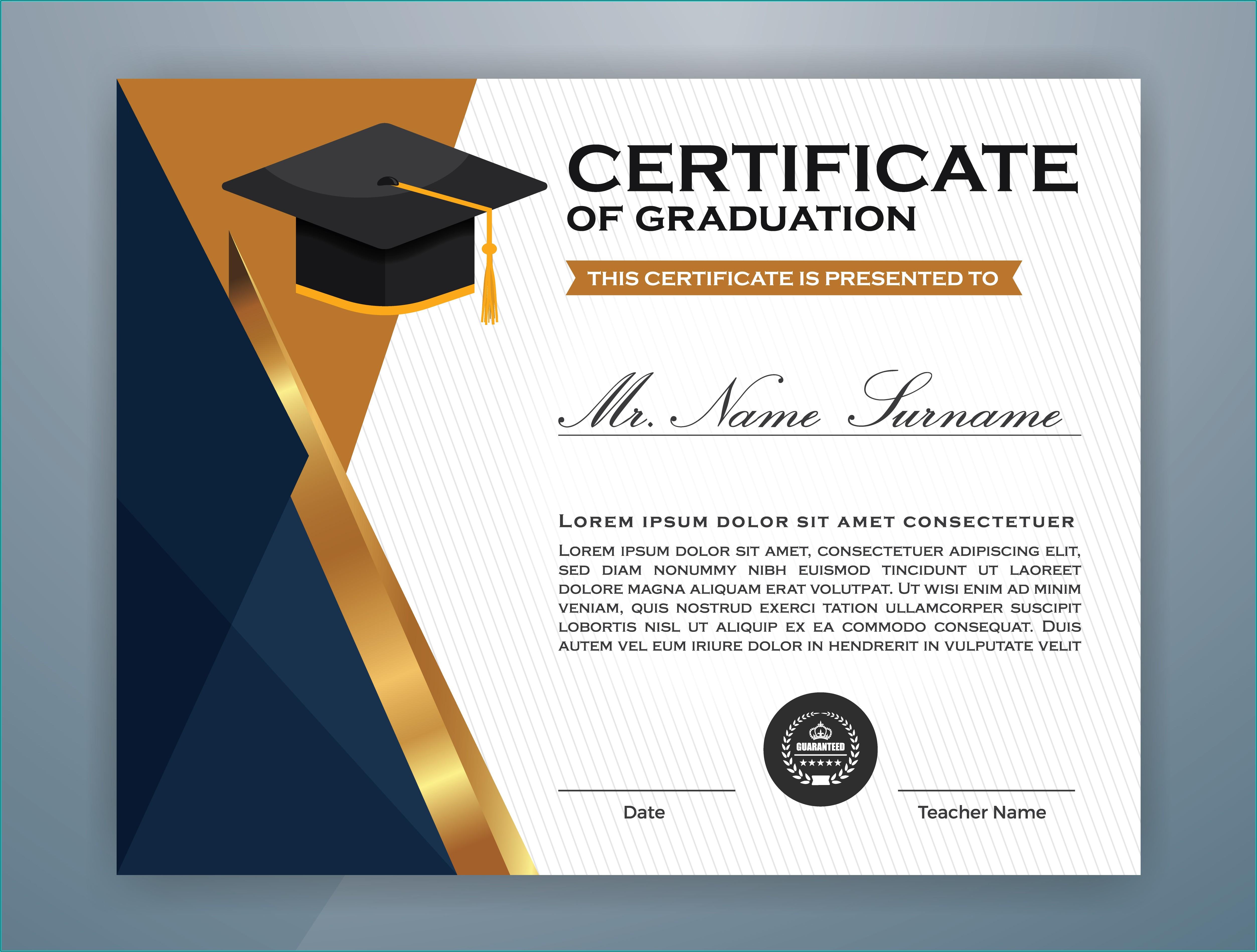 Diploma Certificate Template Free